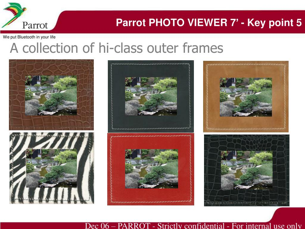 Parrot PHOTO VIEWER 7' - Key point 5