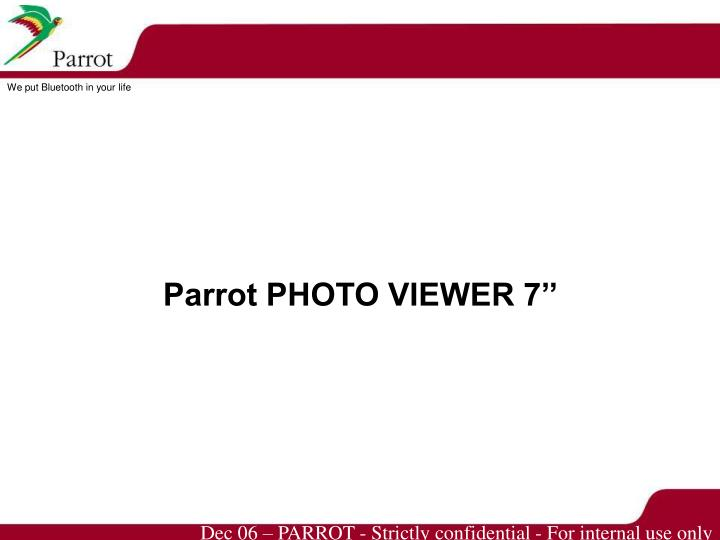 Parrot PHOTO VIEWER 7''