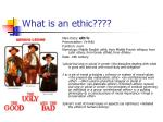 what is an ethic