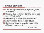 tinnitus ringing