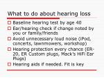 what to do about hearing loss
