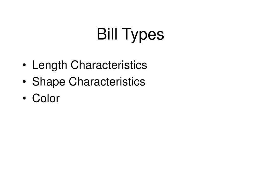 Bill Types