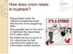 how does union relate to buyback1