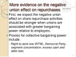 more evidence on the negative union effect on repurchases