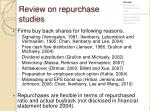 review on repurchase studies