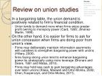 review on union studies1