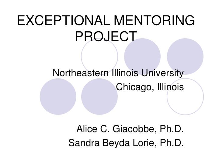 exceptional mentoring project n.