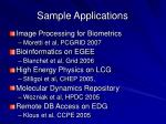 sample applications