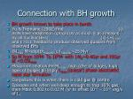 connection with bh growth