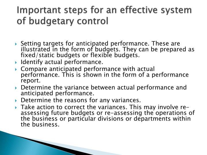 prepare and monitor budget