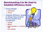 benchmarking can be used to establish efficiency goals