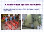 chilled water system resources
