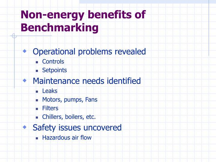 Non-energy benefits of Benchmarking
