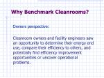why benchmark cleanrooms