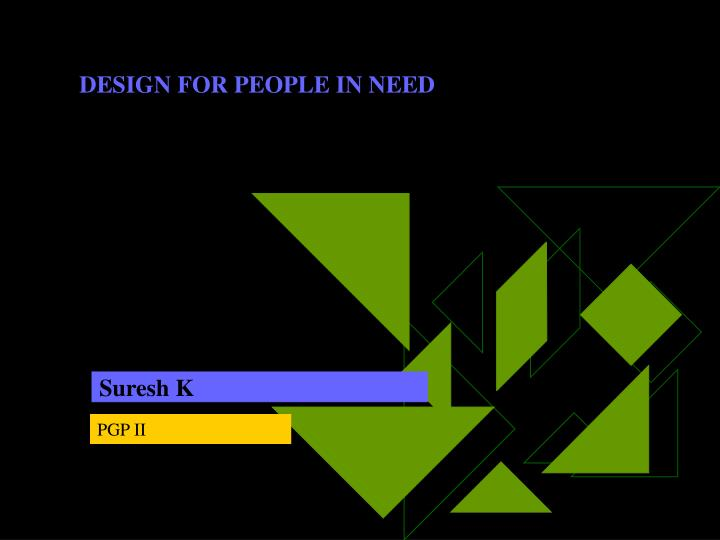 design for people in need n.