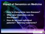 impact of genomics on medicine