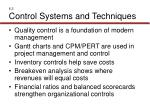 6 3 control systems and techniques