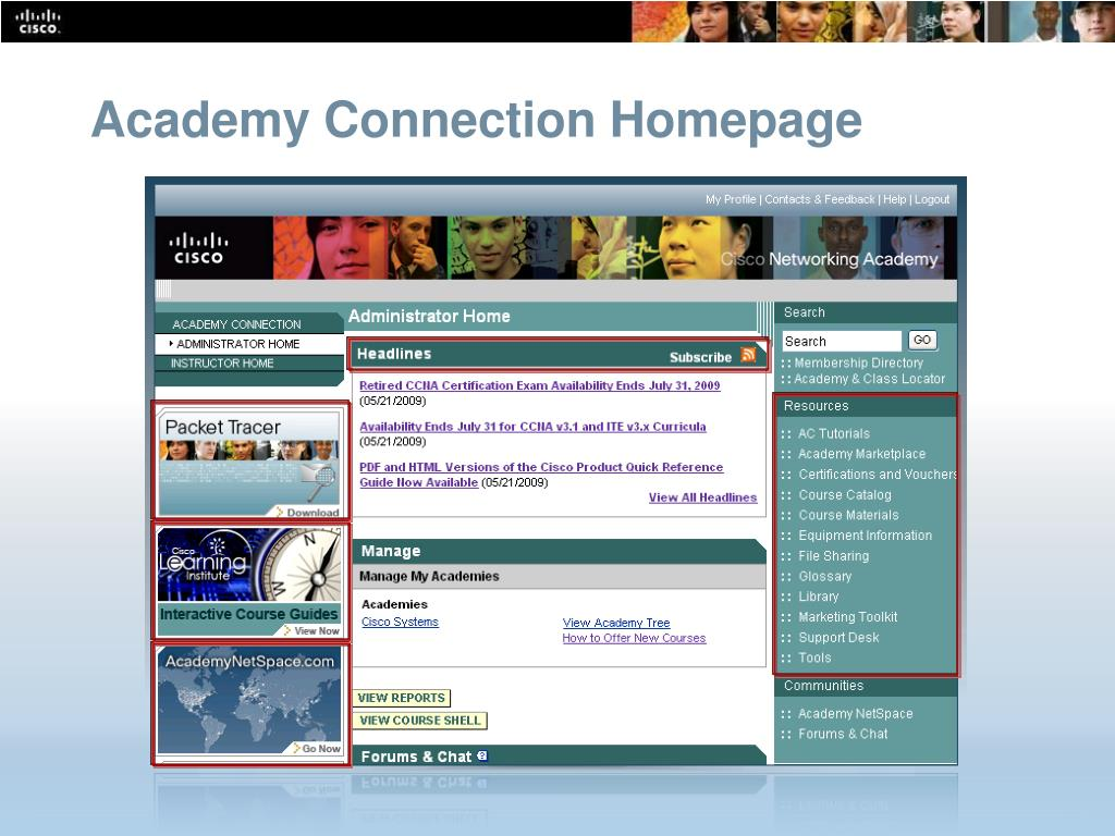 Academy Connection Homepage