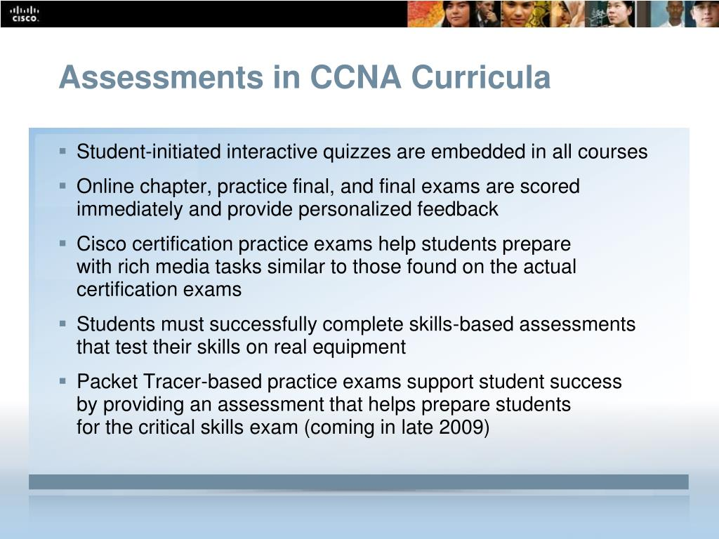 Assessments in CCNA Curricula