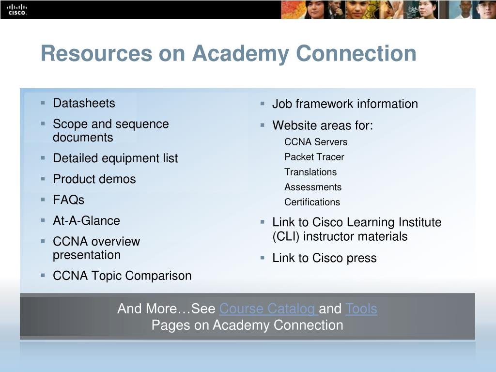 Resources on Academy Connection