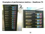 examples of performance metrics heathrow t5