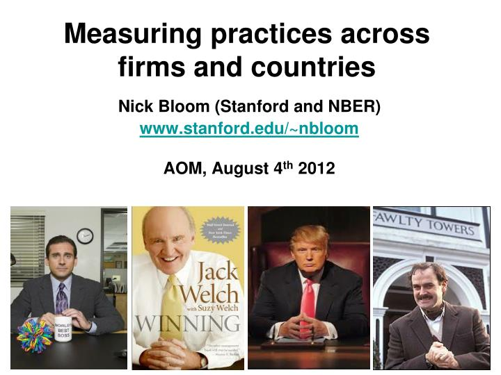 measuring practices across firms and countries n.