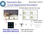 geometric blur local appearance descriptor