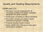 quality and grading requirements