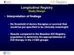 longitudinal registry study design4