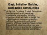 basic initiative building sustainable communities1