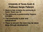 university of texas ausin professor sergio palleroni
