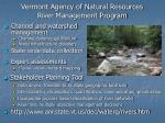 vermont agency of natural resources river management program