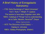 a brief history of extragalactic astronomy