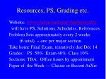resources ps grading etc