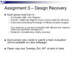 assignment 3 design recovery1
