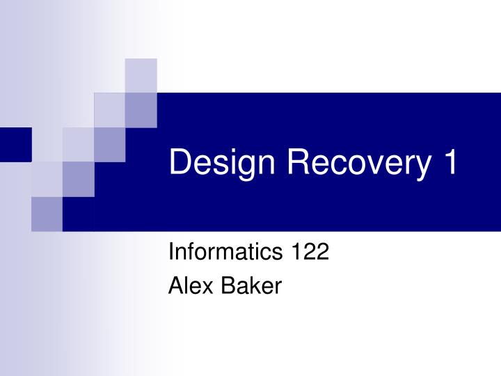 design recovery 1 n.