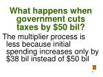 what happens when government cuts taxes by 50 bil