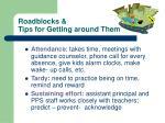 roadblocks tips for getting around them