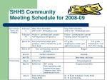 shhs community meeting schedule for 2008 092