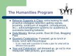 the humanities program
