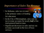 importance of sales tax revenue
