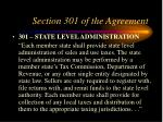 section 301 of the agreement