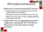 50 student achievement