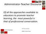 administrator teacher discourse