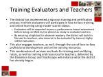 training evaluators and teachers