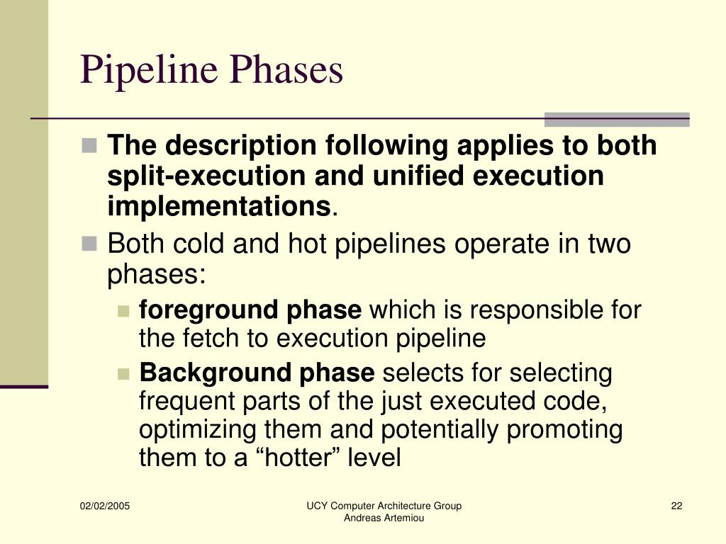 Pipeline Phases