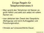 einige regeln f r telephoninterviews ii