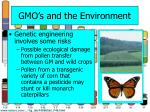 gmo s and the environment