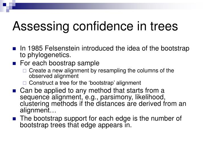 Assessing confidence in trees