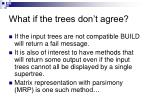 what if the trees don t agree